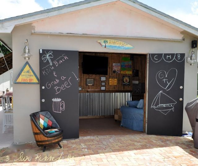 Small Backyard Man Cave : convert your garage into a man cave! OR CRAFT CAVE  ) Caves Pools