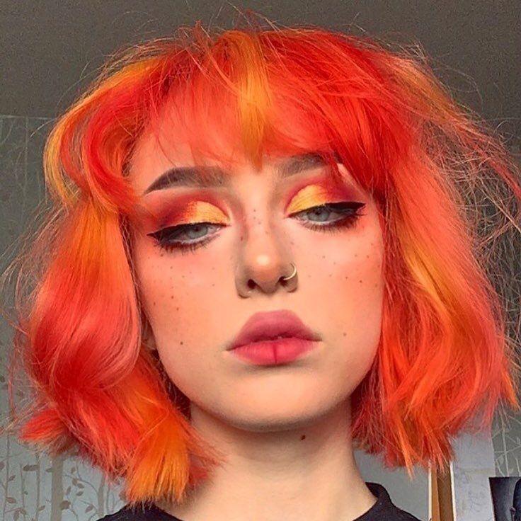 #colouredhair #hair #hairinspo #haircolor #colourful