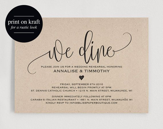9 best Rehearsal Dinner Invitations images on Pinterest Envelope - dinner invitations templates