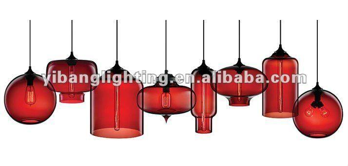 2012 современное стекло подвесные светильники, yp102 серии красный-Люстра и подвеска-ID продукта:583017835-russian.alibaba.com