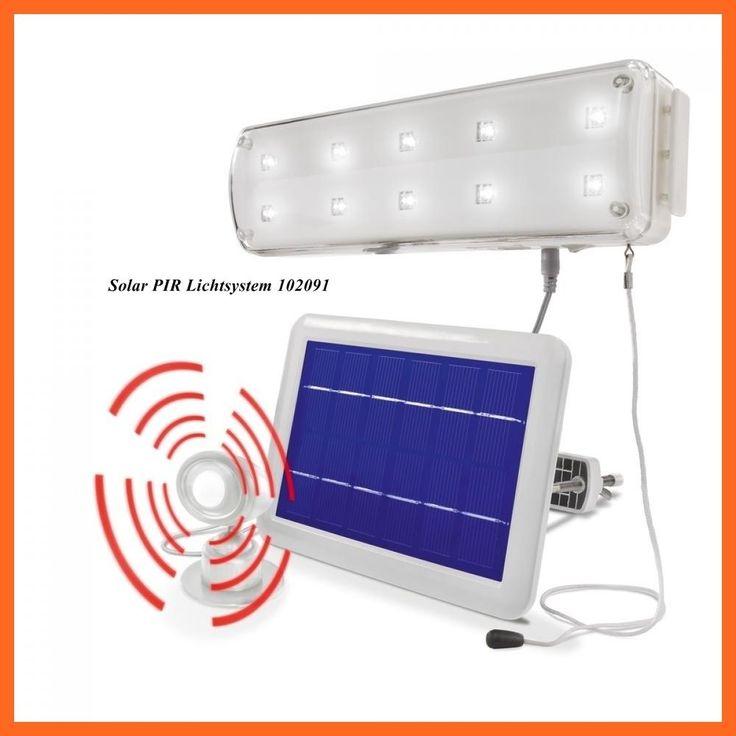 Luxury solar LED Lichtsystem Solarlampe Solarleuchte Bewegungsmelder