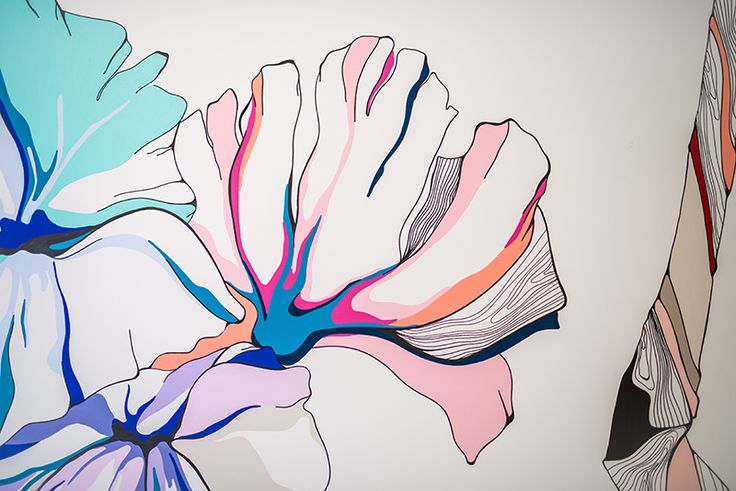 Graphic Flower Wall Art Inspiration