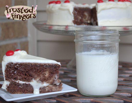Cheesecake Swirled Devil's Food Cake Recipe