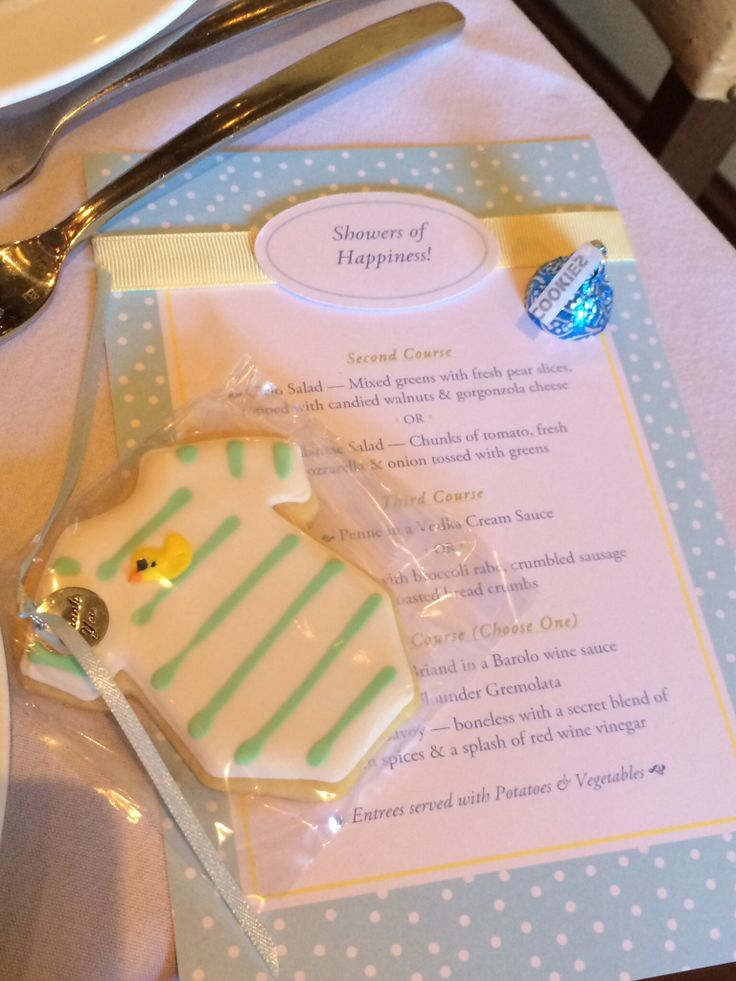 Use DIY Baby Shower Invitation Kit To Print The Menus. It Will Create A More