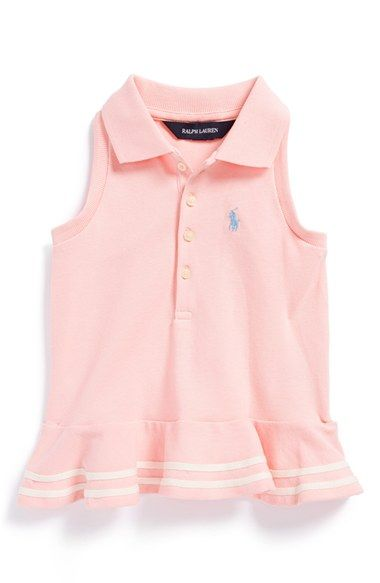 Ralph Lauren Stretch Mesh Ruffle Hem Polo (Toddler Girls) available at