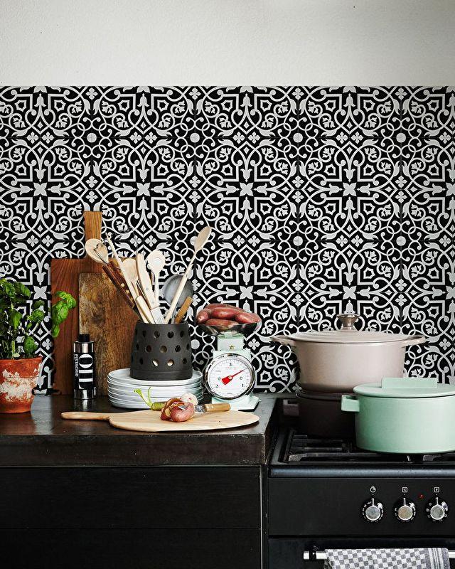 Black White Kitchen Wallpaper: 225 Best KitchenWalls Wallpaper Images On Pinterest
