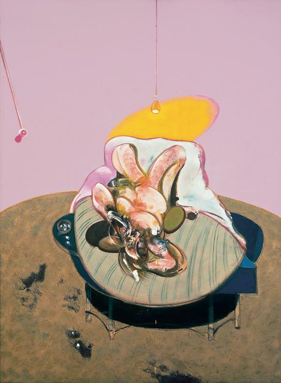 Françis Bacon Lying Figure, 1969 Figure allongée Huile sur toile, 198 x 147,5 cm Photo: Peter Schibli, Basel Read more / lire plus : http://www.fondationbeyeler.ch/fr/collection/francis-bacon