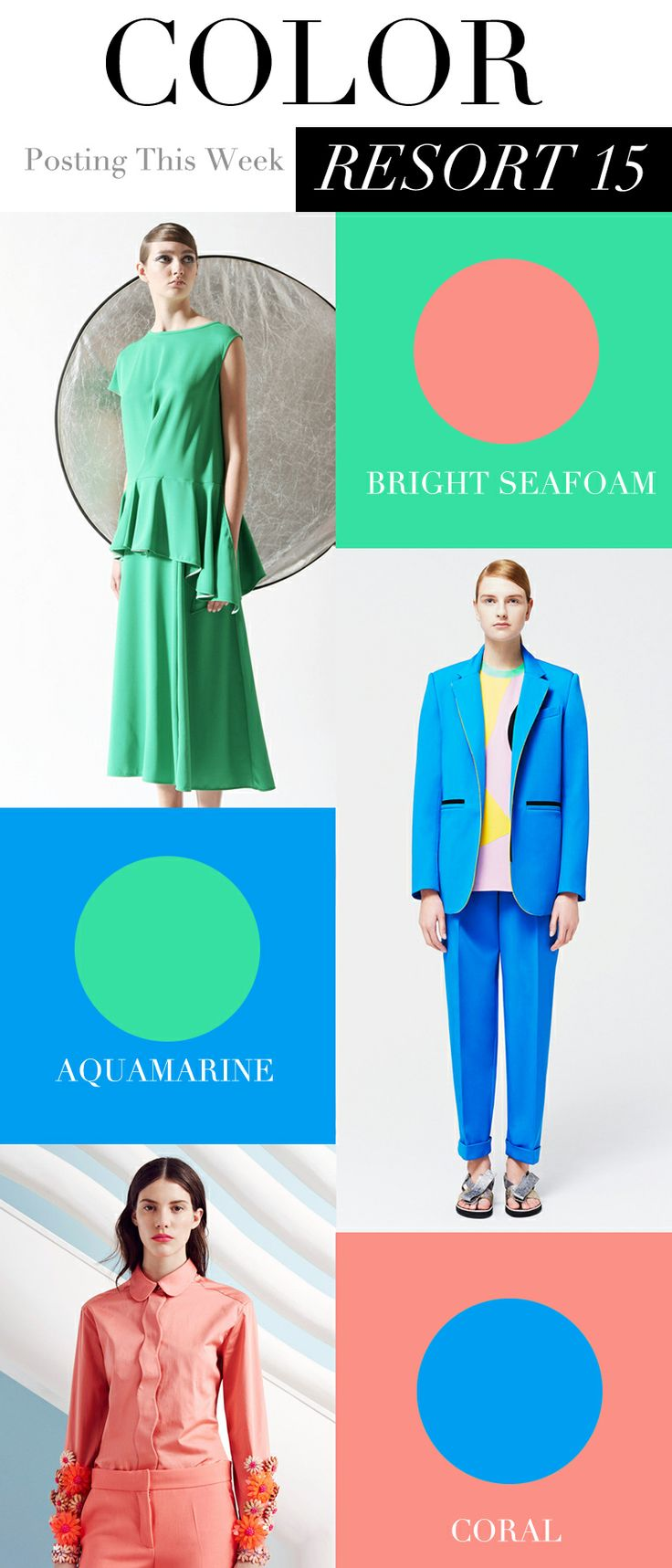 Color trends in 2015 - Resort 2015 Color Trends Trendforecasting Fashionforecasting Trendcouncil