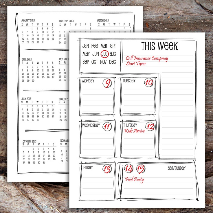 Diy Calendar Agenda : Best diy planner calendar project images on pinterest