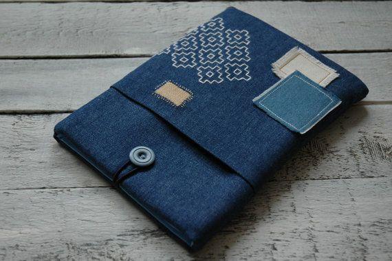 Boro iPad pro 9.7 case Denim iPad Air 2 sleeve by BraveAndStylish
