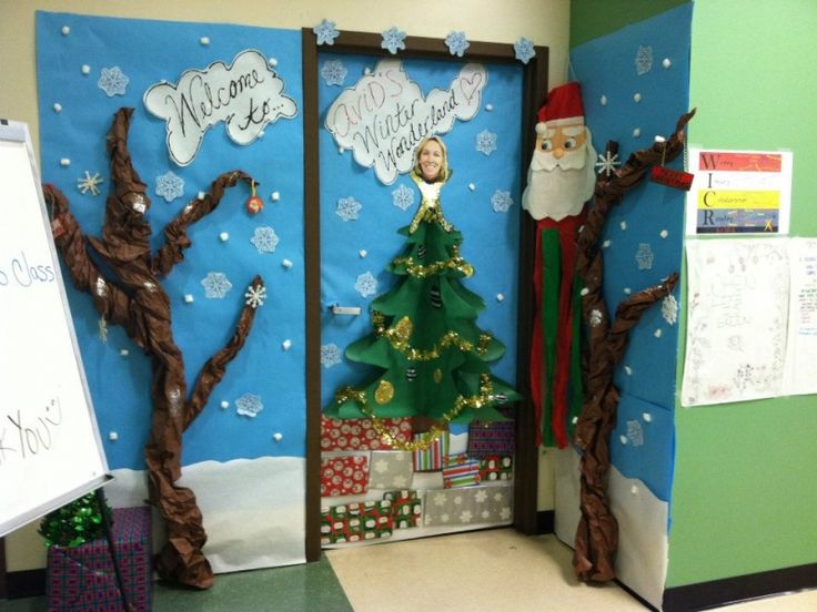 15 best school christmas door decorations images on pinterest - How To Decorate Your Office Door For Christmas