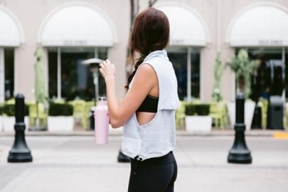 The Miller Affect wearing a free people work out vest