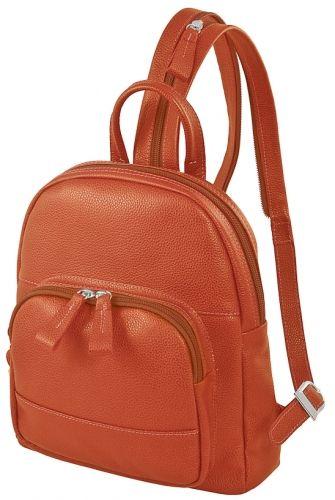 Рюкзак женский кожаный коралловый Dimanche