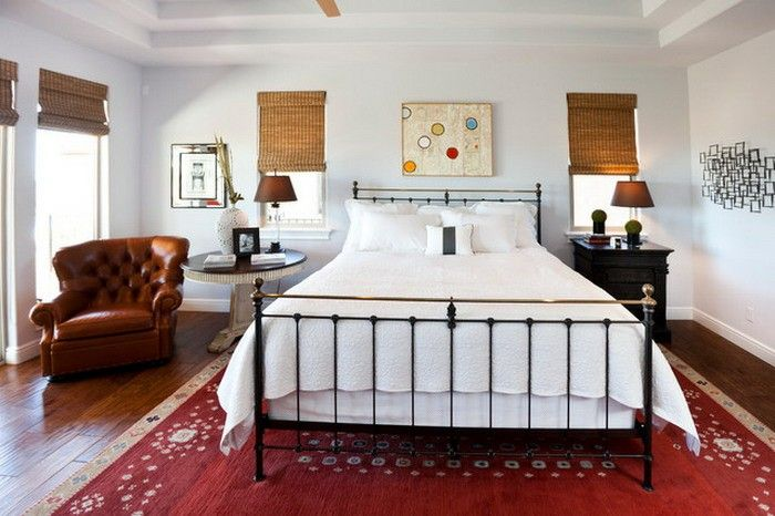 Image result for bedroom with red persian rug