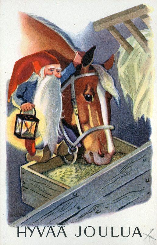 Hyvää Joulua! #tonttu #hevonen #Christmascards