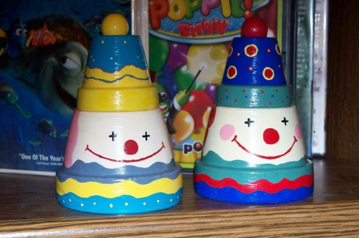 Clay Clown Pots