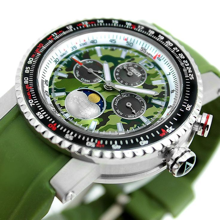Reloj Aviador Explorer AV-1087 con esfera de camuflaje y correa de caucho verde. ANUNCIADO EN TV. El reloj Aviador Explorer está hecho para auténticos supervivientes, amantes de lo inexplorado, el riesgo y la aventura.  Para él o para ella, este es un reloj todoterreno  que seguro no pasará desapercibido. Incluye las más altas prestaciones, podrás sumergirlo en el agua y vivir a tope cada segundo. #ARBOREA Precio 295€