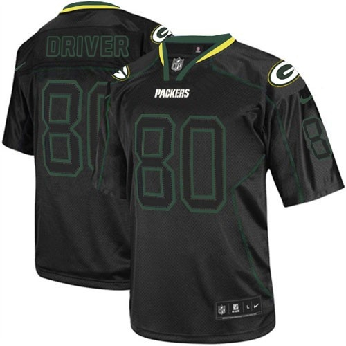 ... Shop for Official Mens Nike Green Bay Packers 80 Donald Driver Elite  Lights Out Black Jersey ... e70967905