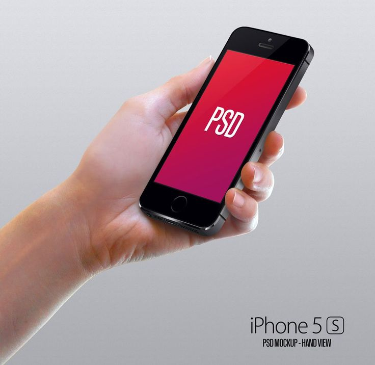 Iphone 5S Mockup Hand PSD