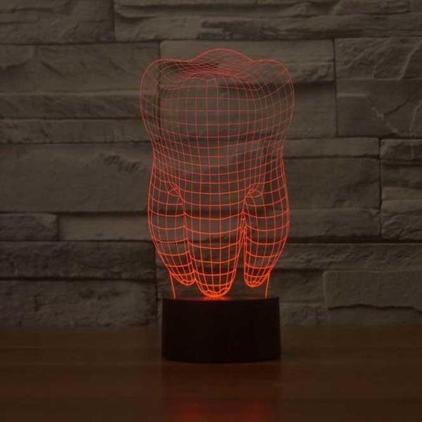 Tooth 3d Illusion Lamp 3d Illusion Lamp Lamp 3d Illusions
