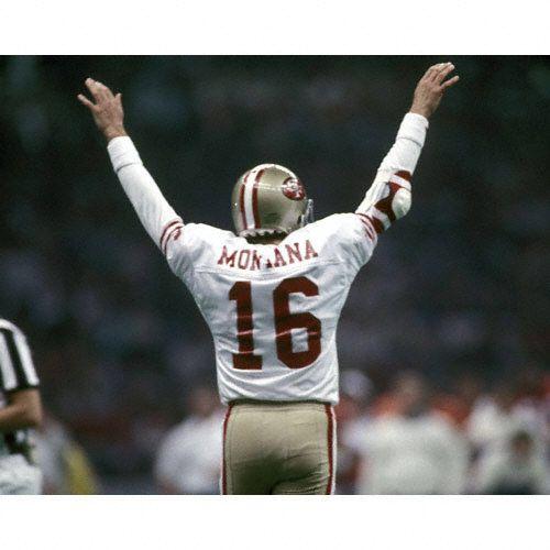 Joe Montana   Joe Montana San Francisco 49ers SB XXIV Arms Raised Autographed 8x10 ...