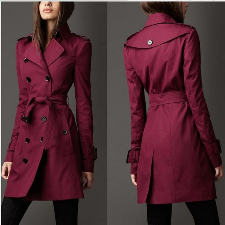 British Style Trench Coat For Women 2016 New Women's Coats Spring And Autumn Double Button Over Coat Long Plus Size XXL