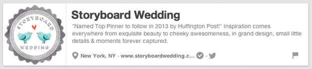 Storyboard Wedding | The 25 Best Pinterest Accounts To Follow When Planning Your Wedding