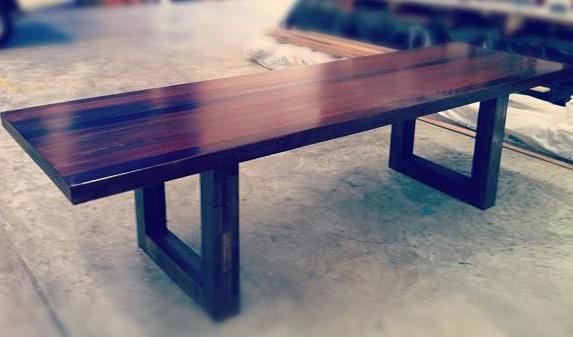 10 seater dining table made using australian hardwood
