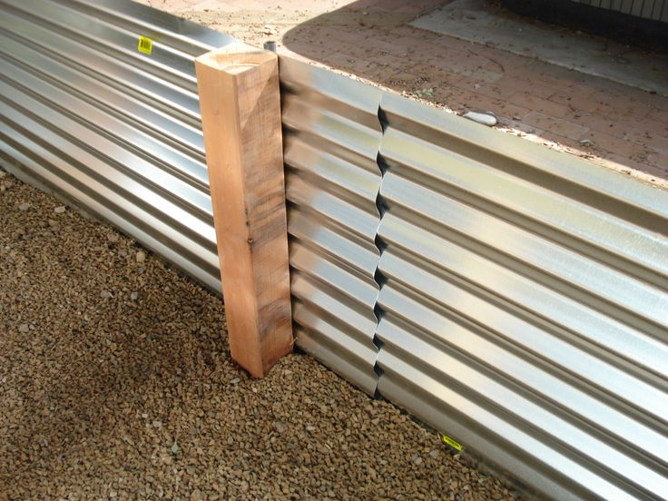 Corrugated metal planter with tutorial / instructions