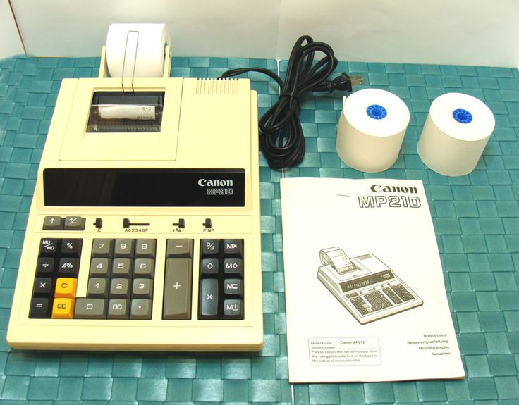 Charming Vintage Canon Adding Machine Mp21d Desk Top Calculator Printing Digital  Read Out Office Equipment