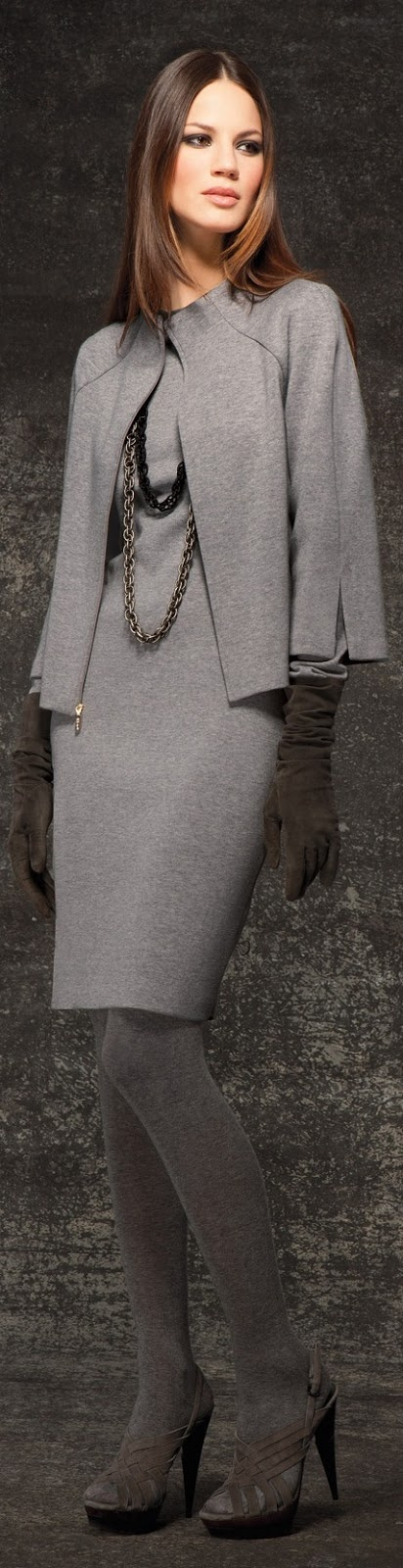 great grey monochromatic head to toe