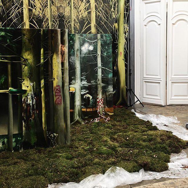 Когда твой внутренний лес заполняет пустые  пространства Съемка лукбука нашей  новой коллекции совместно с художниками Crocodile Power @crocodile_power  #soon#newcollection