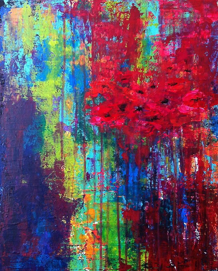 Beautiful Abstraction Painting Title: Beautiful Abstraction; Artist: Julie Janney. Acrylic on canvas.