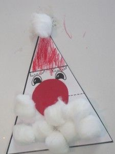 We made a shapely Santa in preschool from Teach Preschool