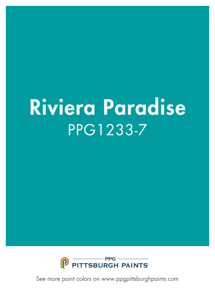 RIVIERA PARADISE PPG1233 7 From PPG Pittsburgh Paints. Perfect For  Bedrooms, Bathrooms,