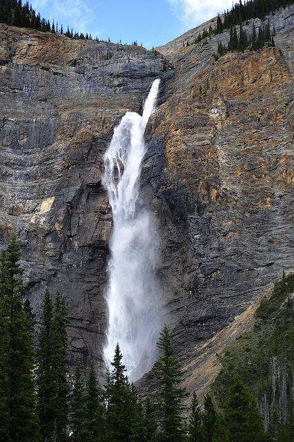 Takakkaw Falls in Yoho National Park, Alberta #Canmore #Banff