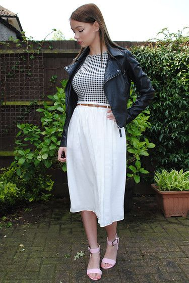 Miss Selfridge Jacket, New Look Top, Primark Skirt, Asos Sandals