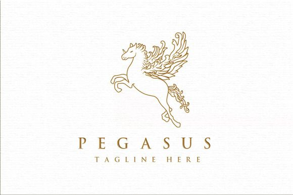 Pegasus Serious Logo Template by Rooms Design Shop on Creative Market