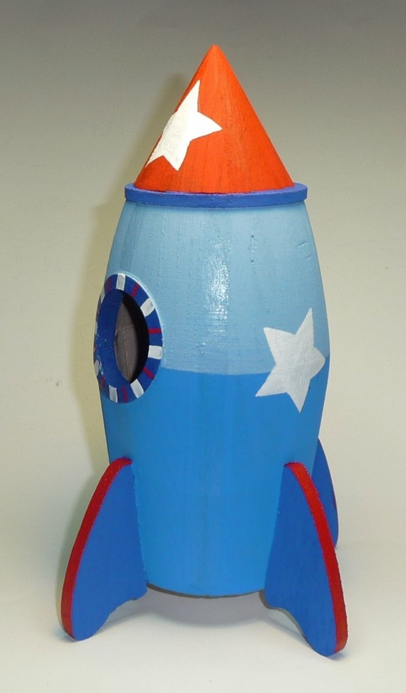 Rocket prop - Rocket ship piggy bank ...