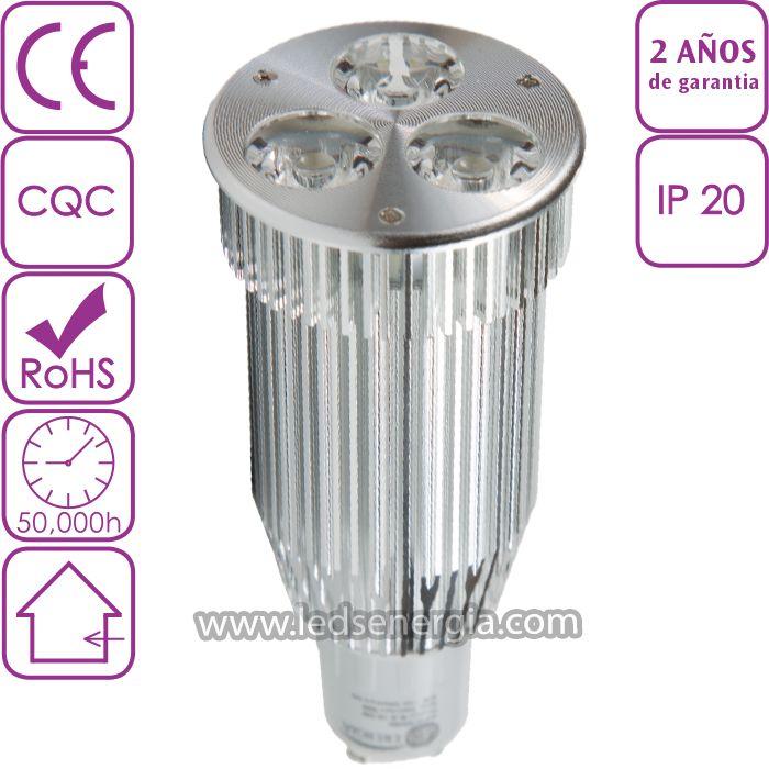 Bombilla LED Dicroica 9W GU10