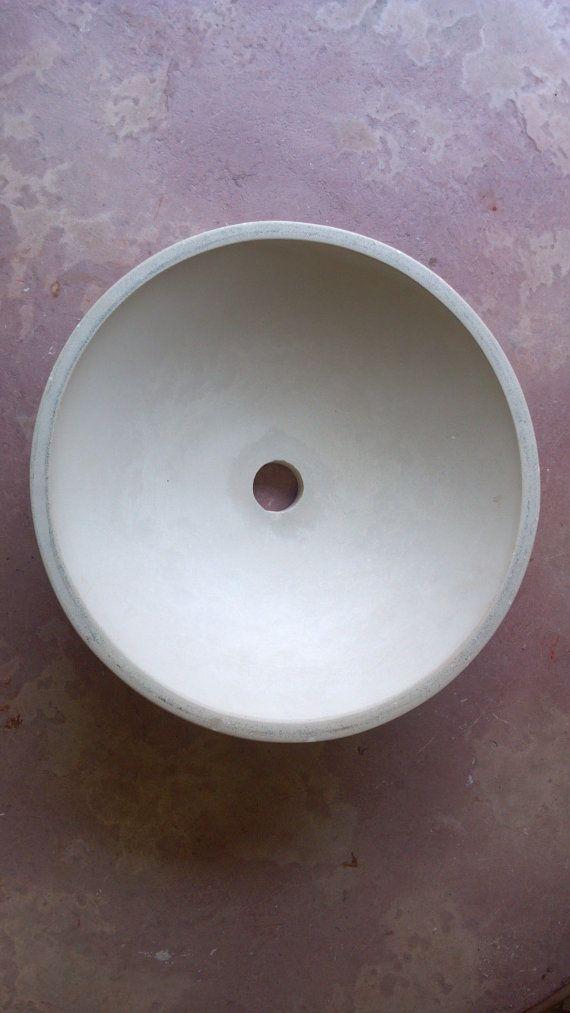 Concrete Vessel Sink Bowl by LyndanStone on Etsy, $150.00