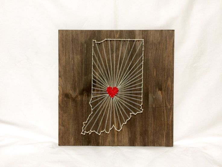 Indiana Any State String Art Indiana Wall Art Home Decor