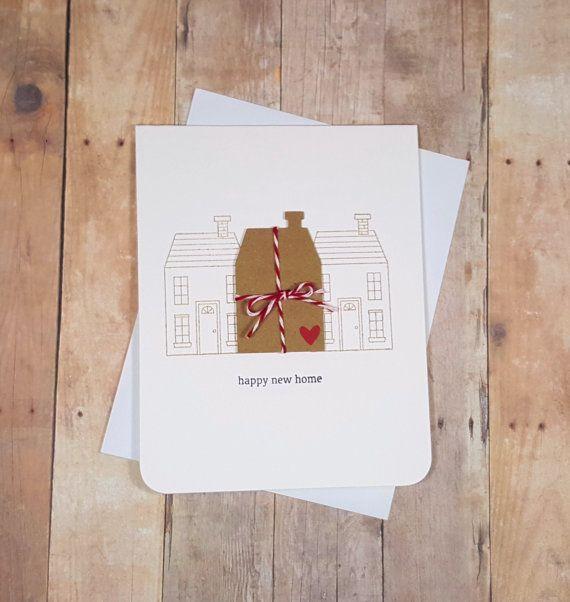 Nuevo hogar tarjeta de felicitación tarjeta de la