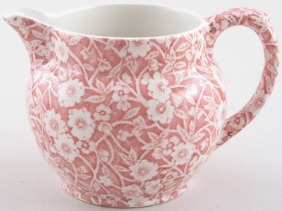 Burleigh - Calico pink - Jug or Pitcher Dutch small 300ml 9cm high x1  (discontinued)