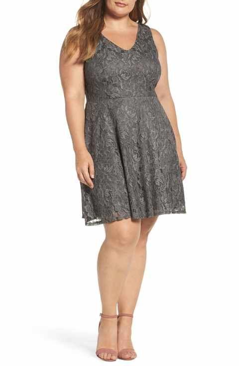 ea3c594f8ea Soprano Lace Skater Dress (Plus Size)