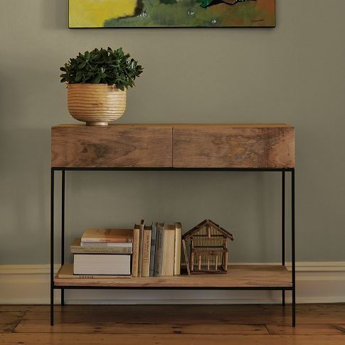 RUSTIC STORAGE CONSOLE from West Elm - for my entryway? I like that it has drawers!