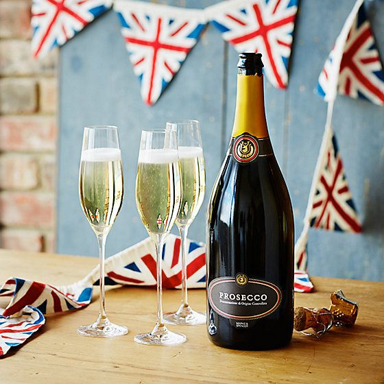 Magnum of prosecco with champagne glasses