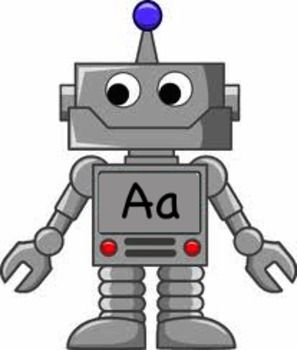 Robots with the alphabet written on them, great for Robot ...