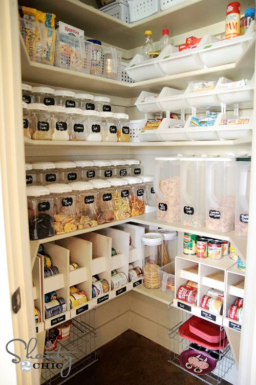 Pretty pantry organization ideas- layered pantry