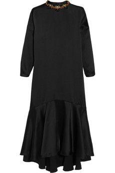 Biyan Linda embellished satin dress | THE OUTNET